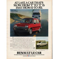 "1980 Renault Le Car Ad ""At last"" ~ (model year 1980)"