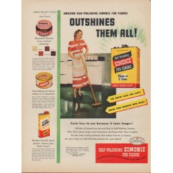 "1949 Simoniz Ad ""Outshines Them All!"""