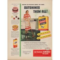 "1949 Simoniz Ad ""Outshines Them All!"""