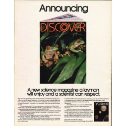 "1980 Discover Magazine Ad ""Announcing"""