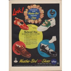 "1949 Weather-Bird Shoes Ad ""Look!"""