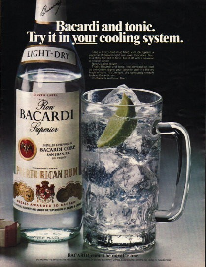 1980 Bacardi Rum Vintage Ad Quot Cooling System Quot
