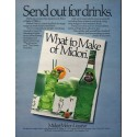 """1980 Midori Ad """"Send out for drinks."""""""