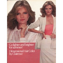 "1980 Clairesse by Clairol Ad ""Go lighter"""