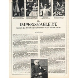 "1980 P. T. Barnum Article ""Imperishable P.T."" ~ by Tom Prideaux"