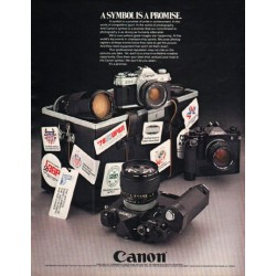 "1980 Canon Camera Ad ""A Symbol Is A Promise"""