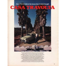"1980 John Travolta Article ""Casa Travolta"""