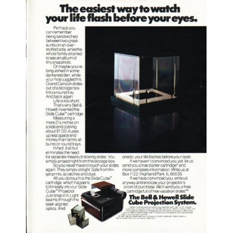 """1980 Bell & Howell Ad """"The easiest way"""""""