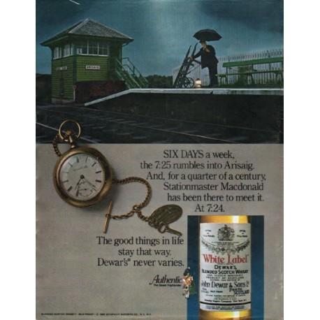 "1980 Dewar's Blended Scotch Whisky Ad ""Six Days"""