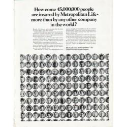 "1965 Metropolitan Life Insurance Ad ""How come"""