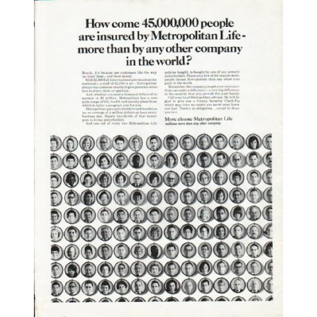 "1965 Metropolitan Life Insurance Ad ""How come"""