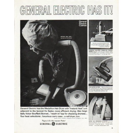 "1965 General Electric Ad ""General Electric Has It!"""