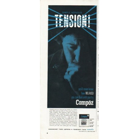 "1965 Compoz Ad ""Tension"""