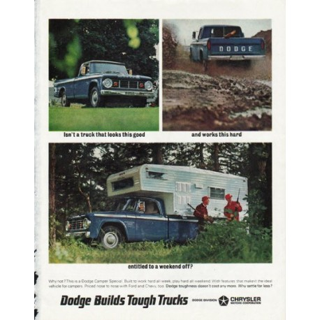 "1966 Dodge Camper Special Ad ""weekend off"" ~ (model year 1966)"