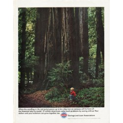 "1965 Savings and Loan Associations Ad ""seedling in the red jacket"""
