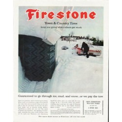 "1965 Firestone Tires Ad ""Town & Country"""