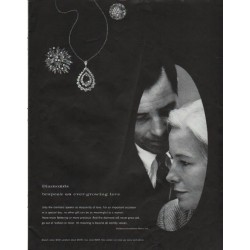 "1965 De Beers Diamonds Ad ""ever-growing love"""