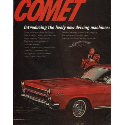 "1966 Mercury Comet Ad ""new driving machines"" ~ (model year 1966)"
