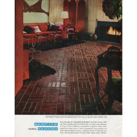 "1965 Kentile Floors Ad ""Love the idea"""