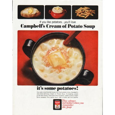 """1965 Campbell's Soup Ad """"If you like potatoes"""""""