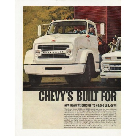 "1966 Chevrolet Trucks Ad ""Workpower is here"" ~ (model year 1966)"