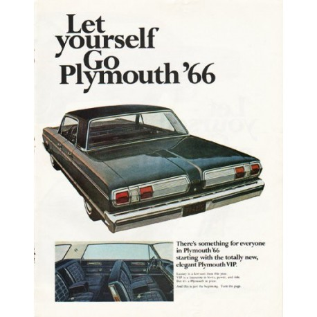 "1966 Plymouth Ad ""Let yourself Go"" ~ (model year 1966)"