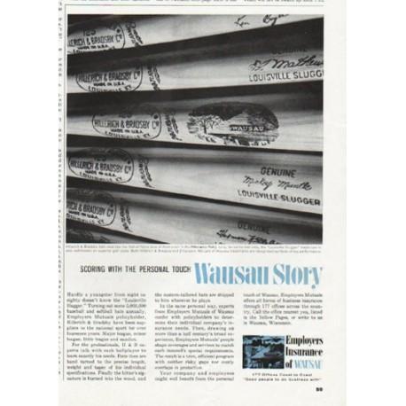 """1965 Employers Insurance of Wausau Ad """"Scoring"""""""