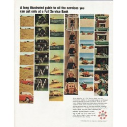 "1965 Full Service Bank Ad ""illustrated guide"""