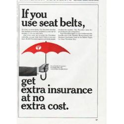 "1965 Travelers Insurance Ad ""seat belts"""