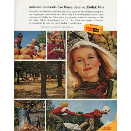 "1965 Kodak Ad ""Autumn moments"""