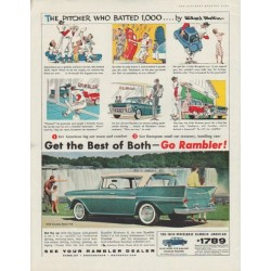 "1958 Rambler Rebel V-8 Ad ""Get the Best of Both -- Go Rambler!"""