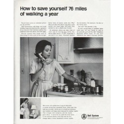 "1965 Bell System Ad ""76 miles of walking"""