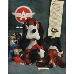 "1965 Flying A Service Ad ""Worry Dogs"""