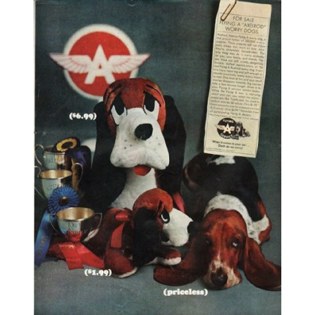 """1965 Flying A Service Ad """"Worry Dogs"""""""