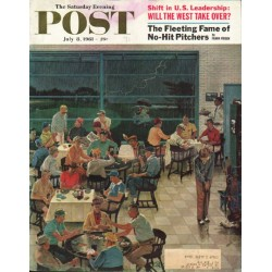 "1961 Saturday Evening Post Cover Page ""Rain Delay"" ~ July 8, 1961"