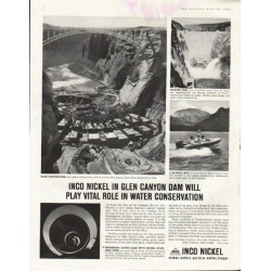 "1961 Inco Nickel Ad ""Glen Canyon Dam"""