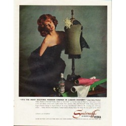 "1961 Smirnoff Vodka Ad ""fashion change"""