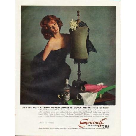 """1961 Smirnoff Vodka Ad """"fashion change"""""""