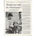 """1961 New York Life Insurance Company Ad """"Veterinarian"""""""