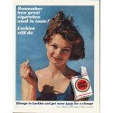 "1961 Lucky Strike Cigarettes Ad ""Luckies still do"""