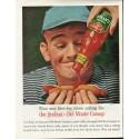 """1961 Del Monte Catsup Ad """"man bites dog"""""""
