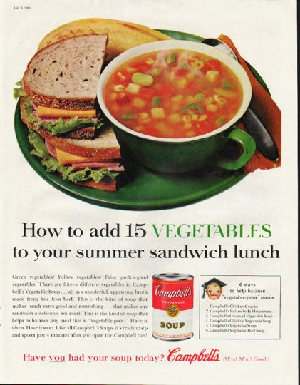 1961 Campbell's Soup Ad