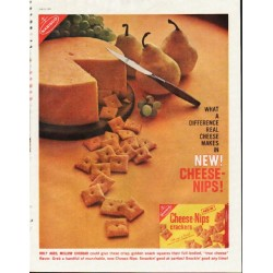 "1961 Nabisco Cheese-Nips Ad ""real cheese"""