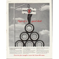 "1961 Union Oil Ad ""Sign of a good deal"""