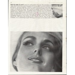 "1961 Holiday Magazine Ad ""magic of mood"""