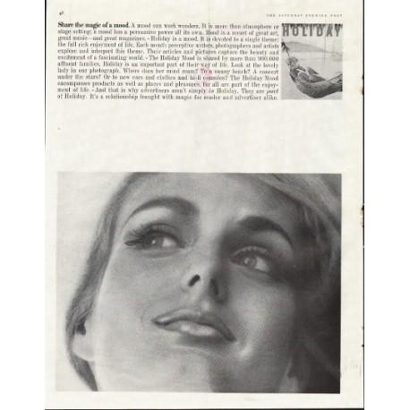 "1961 Holiday Magazine Ad ""magic of mood"""