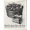 """1961 Rainier Beer Ad """"cold for hours"""""""