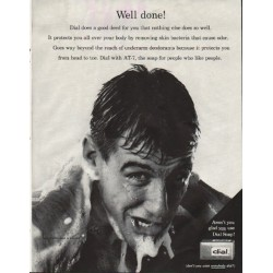 "1961 Dial Soap Ad ""good deed"""