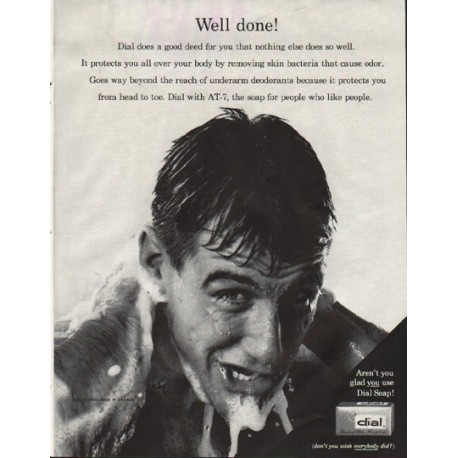 """1961 Dial Soap Ad """"good deed"""""""