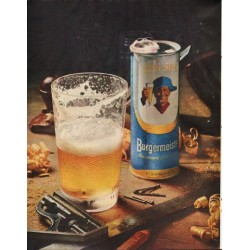 "1961 Burgermeister Beer Ad ""brewed for refreshing people"""